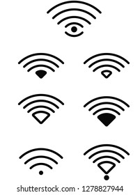 wifi icons set for web or printing