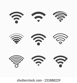 Wi-Fi icons. Vector.