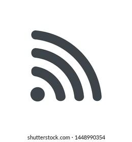 Wifi icon.Wireless vector ...ed on white background