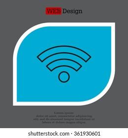Wi-Fi line icon