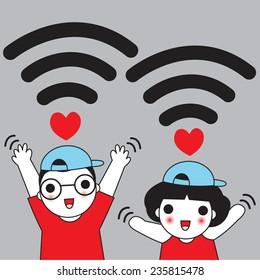 Wifi Cartoon Images Stock Photos Vectors Shutterstock