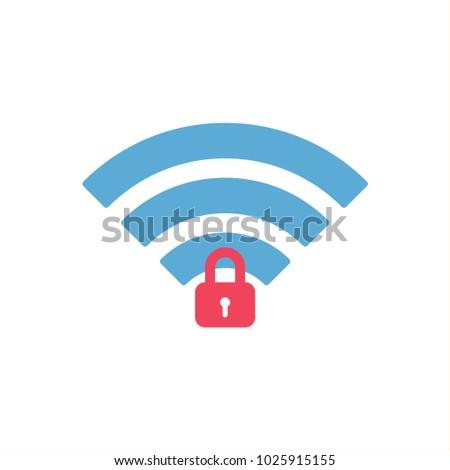Wifi Password Icon Stock Vector (Royalty Free) 1025915155