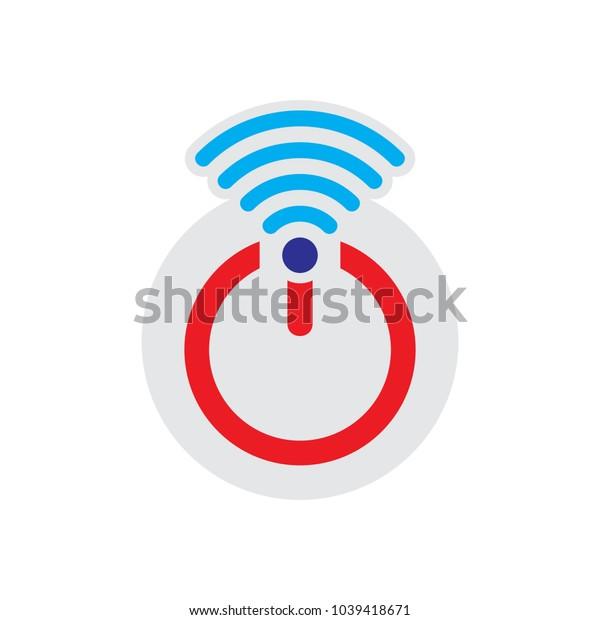Wifi Power Logo Icon Design
