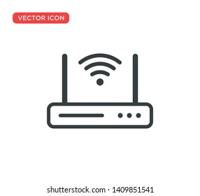 Wifi Router Icon Vector Illustration Design