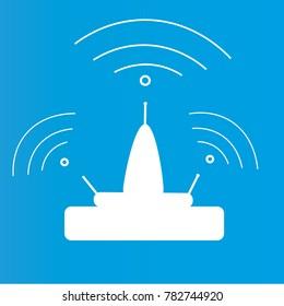 wi-fi router white