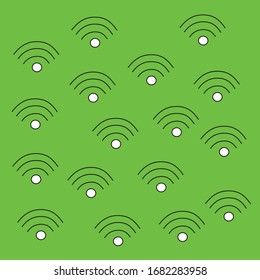 wifi sign on a green background