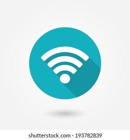 Wifi sign. Wi-fi symbol. Wireless Network icon. Wifi zone.