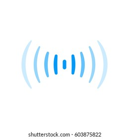 wifi signal connection sound radio wave logo symbol