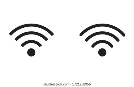 Wifi signal icon, vector communication isolated network symbol.