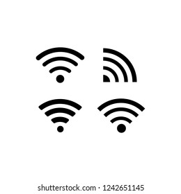 wifi signal on white background