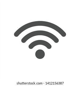 Wifi Signal Symbol Icon Vector Illustration - Vector