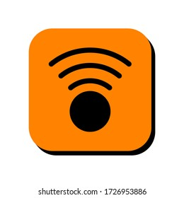 WIFI signal vector illustration icon. WIFI signal icon in two-dimensional shape. The concept of communication technology and wireless network by using a WIFI signal modern icon.