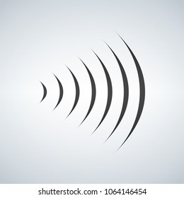 wifi sound signal connection, sound radio wave logo symbol. vector illustration isolated on modern background.