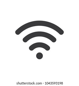 Wi-Fi symbol icon isolated on the white background. EPS 10