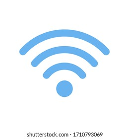 Wi-Fi symbol outline icon. Simple flat vector illustration isolated on white background