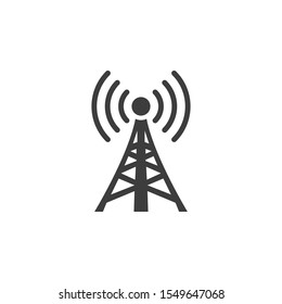 Wifi Tower vector illustration. Glyph style icon