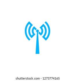 WiFi transmitter tower logo modern vector icon download