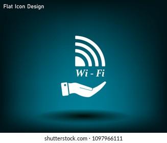Wi-Fi vector icon