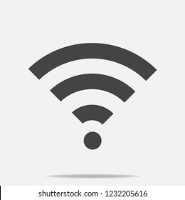 WiFi vector icon on gray background. Wi-Fi logo illustration. Layers grouped for easy editing illustration. For your design.