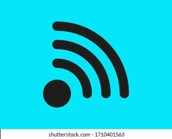 Wi-Fi vector icons.The symbol for the computer and mobile phone numbers, web site, laptop.Illustration of a communication antenna