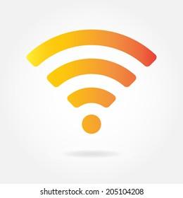 wireless wifi icon sign remote internet のベクター画像素材