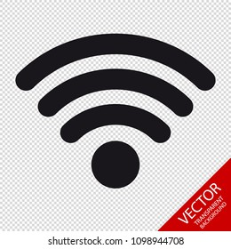 Wifi Wireless Wlan Internet Signal Flat Icon For Apps Or Websites - Isolated On Transparent Background