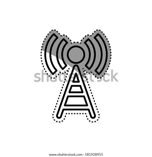 Wifi zone antenna icon vector illustration graphic design