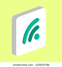 WiFi Zone Simple vector icon. Illustration symbol design template for web mobile UI element. Perfect color isometric pictogram on 3d white square. WiFi Zone icons for you business project