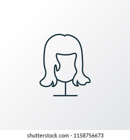 Wig icon line symbol. Premium quality isolated hairstyle element in trendy style.