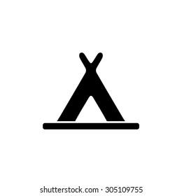 Wigwam. Black simple vector icon