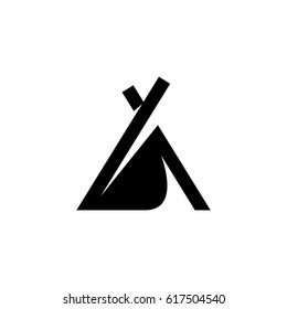 Wigwam icon. Camping vector logo illustration isolated sign symbol