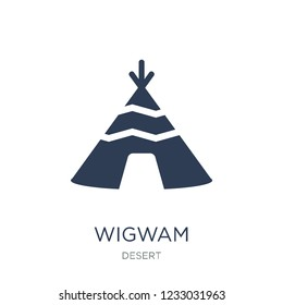 Wigwam icon. Trendy flat vector Wigwam icon on white background from Desert collection, vector illustration can be use for web and mobile, eps10