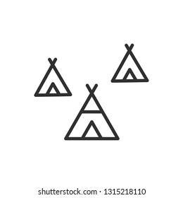wigwam native american icon outline element