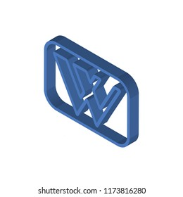 Wikipedia isometric left top view 3D icon