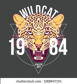 wilcat t shirt design vector file