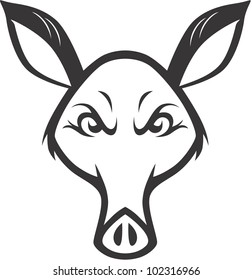 Wild Aardvark Illustration