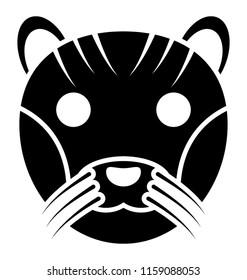 A wild animal, tiger face
