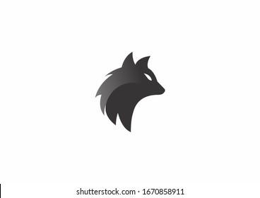 Wild animal. Wolf Abstract template logo design