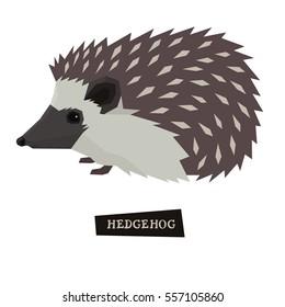 Wild animals collection Hedgehog Geometric style