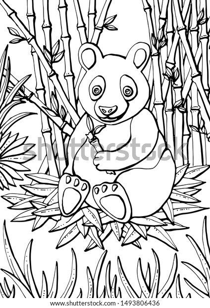 Learning Friends Panda coloring printable | 620x424