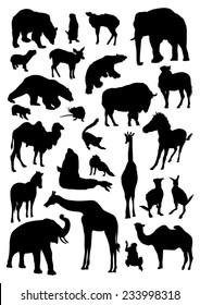 Wild Animals Silhouettes