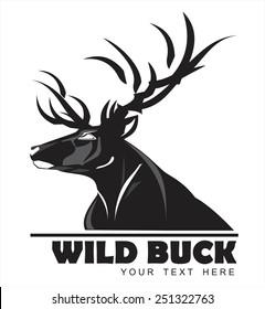 Wild Black Buck, symbolizing power, protection, dignity, etc. Suitable for team Mascot ,community identity, product identity, corporate identity, illustration for apparel, clothing, illustration, etc