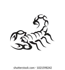 Wild black scorpion vector log