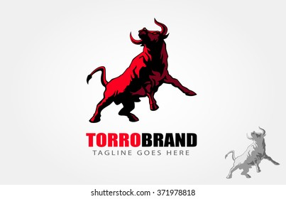 Wild buffalo bull in cartoon style for mascot and emblem design, such a logo.