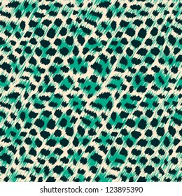 Wild cat fur print. Seamless pattern. Vector.