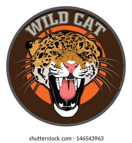 wild cat leopard vector mascot