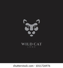 Wild cat logo template design. Vector illustration.