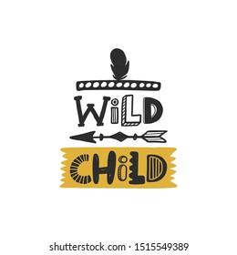 Wild Child Feather Sticker