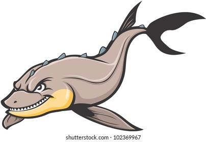 scary fish images stock photos vectors shutterstock rh shutterstock com Sturgeon Point Productions Logo Sturgeon Fish Clip Art
