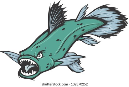 Wild Coelacanth Illustration